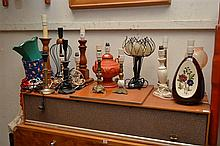 TWO BOXES OF ASSORTED LAMPS AND SHADES