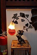 SPELTER STYLE CHERUB LAMP