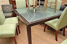 A CONTEMPORARY SQUARE DINING TABLE BY POLIFORM