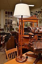 A 1960'S TIMBER STANDARD LAMP