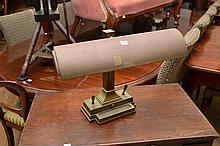 A BRASS ART DECO DESK LAMP