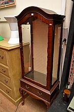 A QUEEN ANNE STYLE DISPLAY CASE