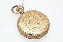 A WALTHAM POCKET WATCH IN 14CT GOLD