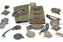 A COLLECTION OS MILITARY BADGES ETC