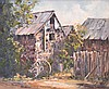 BETTY MAHONEY, COUNTRY BARN HOUSE, OIL ON CANVASBOARD, 39 X 49CM, Betty Mahoney, Click for value
