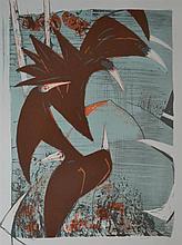 CLIFTON PUGH (1924-1990) Flight of Birds screenprint 90/300