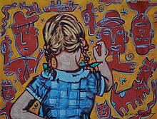 DAVID BROMLEY, GIRL DRAWING, LIMITED EDITION PRINT, PRINTERS PROOF