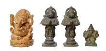 A GROUP OF SMALL INDIAN FIGURES, MAHARASHTRA 17TH/18TH CENTURY AND LATER