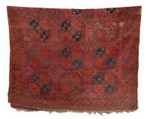 A RARE HAND WOVEN ERSARI TURKMEN CARPET, CIRCA 1900