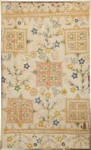 AN EMBROIDERED INDO-PORTUGUESE TEXTILE FRAMED, CIRCA 1800'S