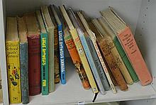 SHELF OF VINTAGE CHILDREN'S EDITIONS, INCL. THE EVERYDAY AND NOWADAY FAIRY BOOK, ETC