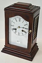 MAHOGANY CASED FRENCH BRACKET CLOCK