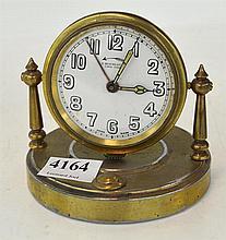 BRASS CASED DESK CLOCK