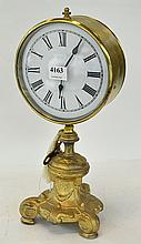 FRENCH BRASS CLOCK ON STAND