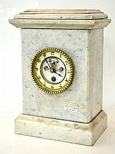 FRENCH MARBLE CASED MANTEL CLOCK