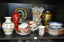 COLLECTION OF ORIENTAL ITEMS INC. CHINESE PORCELAIN, JAPANESE EGGSHELL PORCELAIN