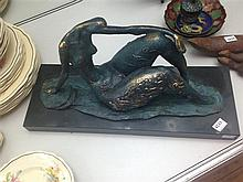 AN ABSTRACT NUDE BRONZE