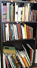 THREE SHELVES OF ASSORTED REFERENCE BOOKS, INCL. ARTIST'S LITHOGRAPHS, HISTORY OF ART, TREASURES OF BRITAIN, ETC.