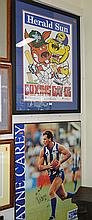 A SIGNED WAYNE CAREY POSTER AND TWO OTHERS