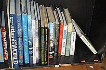 SHELF OF MISCELLANEOUS BOOKS, INCL. THE ESSENTIAL GARDENING BOOK, CHINA; THE LONG MARCH