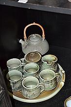 AN AUSTRALIAN STUDIO POTTERY TEA SET