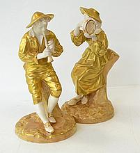 .A PAIR OF ROYAL WORCESTER FIGURES