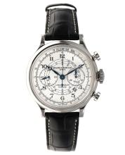 A BAUME AND MERCIER CHRONOGRAPH CAPELAND FLYBACK WRISTWATCH