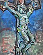 DONALD FRIEND (1915-1989) Calvaire, Brittany (Crucifixion Sculpture) mixed media on paper