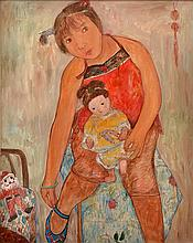 HAO LI (BORN 1975) Girl and Her Doll 2004 oil on canvas