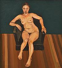 LEWIS MILLER (BORN 1959) Nude oil on canvas