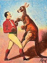 DENNIS ROPAR (BORN 1971) Boxing Kangaroo oil on canvas