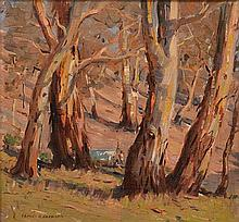 JAMES R. JACKSON (1882-1975) Gums at Evening oil on canvas on board