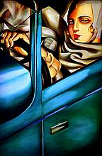 AFTER TAMARA DE LEMPICKA Girl in Car, Hyatt Hotel, 1978 oil on canvas