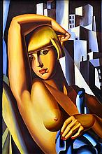 AFTER TAMARA DE LEMPICKA Nude, Hyatt Hotel 1978 oil on canvas