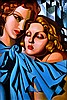 AFTER TAMARA DE LEMPICKA Les Juine, Hyatt Hotel 1978 oil on canvas