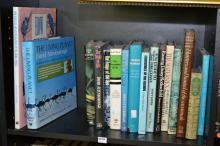 A SHELF OF BOOKS INCLUDING NATURE AND WILDLIFE INCLUDING DAVID ATTENBOUROUGH
