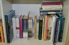 ONE SHELF OF BOOKS CONCERNING AUSTRALIAN GARDENS, LANDSCAPE AND HISTORY