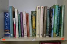 ONE SHELF OF BOOKS CONCERNING INTERNATIONAL GARDENS, LANDSCAPES AND HISTORY