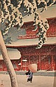 KAWASE HASUI (JAPANESE, 1883-1957) Zojoji Temple at Shiba from the Series Toyoko Nijukei (1931-1941) woodblock