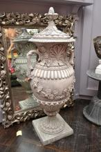 A FINE STONE COMPOSITE LILLY URN
