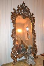A ROCOCO STYLE WALL MIRROR
