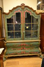 A DUTCH PAINTED CABINET