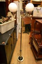 A THREE BRANCH ART DECO STANDING LAMP