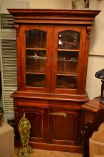 A VICTORIAN STYLE BOOKCASE CABINET