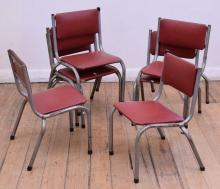 7 VINTAGE KIDS STACKING CHAIRS