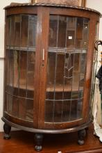A CHIPPENDALE STYLE DISPLAY CABINET