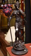 A FIGURAL TABLE LAMP