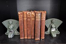 PAIR OF ART DECO COLD PAINTED FIGURAL BOOKENDS (LOSSES)