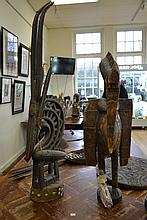 TWO TRIBAL WOODEN FIGURES