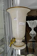 A TURNED STONE LAMP